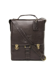 Hidesign Men Brown Leather Messenger Bag