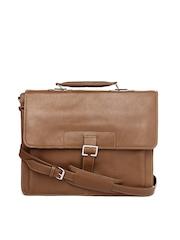 Hidesign Men Brown Leather Laptop Bag