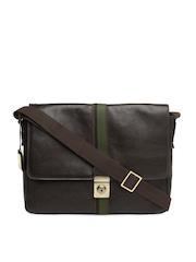 Hidesign Men Brown Leather Messenger Bag