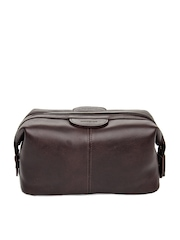 Hidesign Men Brown Leather Toiletry Kit
