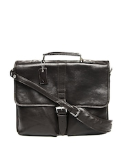 Hidesign Men Brown Leather Laptop Bag