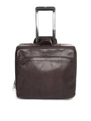 Hidesign Men Brown Leather Trolley Bag