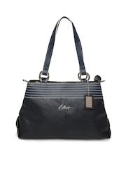 Hidesign Navy Blue Handbag