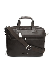 Hidesign Men Brown Leather Office Bag