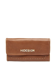 Hidesign Women Brown Leather Wallet