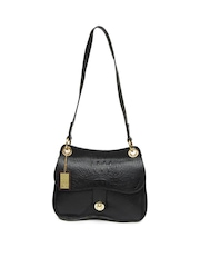 Hidesign Black Leather Shoulder Bag
