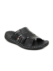High Sierra Men Black Leather Sandals