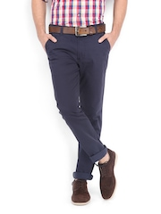 Highlander Men Navy Slim Fit Chino Trousers