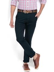 Highlander Men Dark Blue Slim Fit Chino Trousers