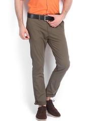 Highlander Men Brown Slim Fit Trousers