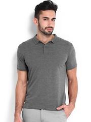 Highlander Men Grey Melange Polo T-shirt
