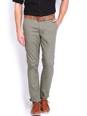 Highlander Men Grey Slim Fit Trousers