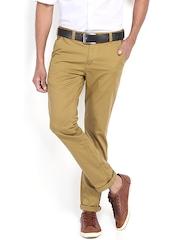Highlander Men Khaki Slim Fit Chino Trousers