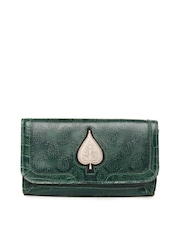 Holii Green Leather Clutch
