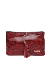Holii Red Leather Clutch