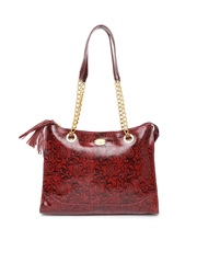 Holii Maroon Leather Handbag