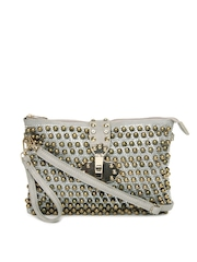 Hotberries Grey & Gold Toned Sling Bag