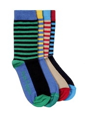 Hush Puppies Boys Set of 4 Striped Socks