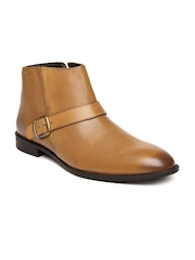 Hush Puppies By Bata Men Brown Leather Semiformal Shoes