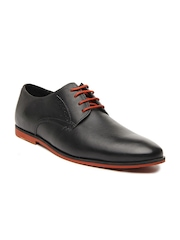 Hush Puppies Men Black Leather Casual Shoes