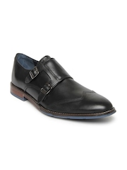 Hush Puppies Men Black Leather Semiformal Shoes