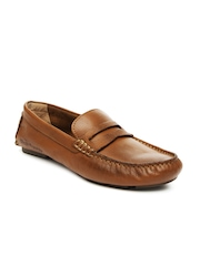 Hush Puppies Men Brown Leather Loafers