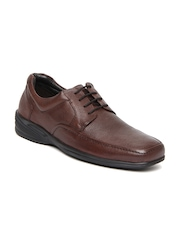 Hush Puppies Men Brown Leather Semi-Formal Shoes
