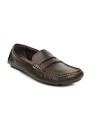 Hush Puppies Men Dark Brown Leather Loafers
