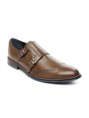 Hush Puppies Men Brown Leather Semiformal Shoes