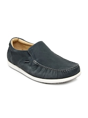 Hush Puppies Men Grey Leather Loafers