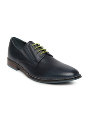 Hush Puppies Men Navy Leather Smart-Casual Shoes