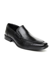 By Bata Men Black Leather Semiformal Shoes Hush Puppies