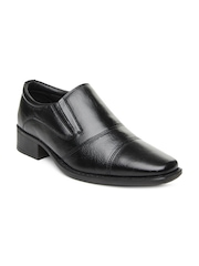 Hush Puppies by Bata Men Black Leather Semiformal Shoes