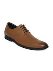 Hush Puppies Men Brown Leather Formal Shoes