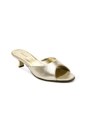 Hype Women Muted Gold Toned Heels
