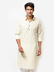 I Know Men White Kurta
