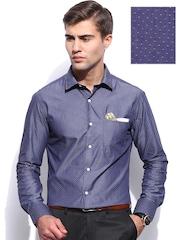 INVICTUS Men Blue Structure Slim Fit Formal Shirt