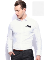 INVICTUS Men White Tailored Fit Formal Shirt