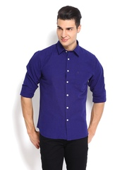 IZOD Men Blue Slim Fit Casual Shirt
