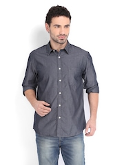 IZOD Men Grey Slim Fit Casual Shirt
