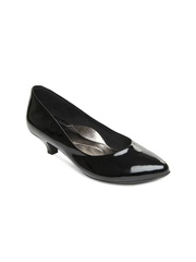 Inc 5 Women Black Patent Leather Heeled Shoes