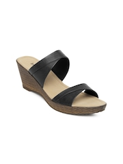 Inc 5 Women Black Wedges