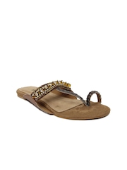 Inc 5 Women Brown Sandals