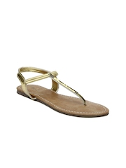 Inc 5 Women Gold Toned Flats