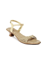 Inc 5 Women Gold Toned Heels