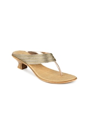 Inc 5 Women Gold toned Sandals