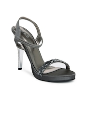 Inc 5 Women Grey Studded Sandals