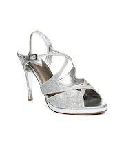 Inc 5 Women Silver Toned Sandals