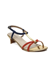 Inc.5 Women Gold Toned Sandals