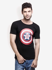 Incynk Men Black Printed T-shirt